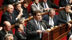 Christian Jacob, jefe del grupo UMP en la Asamblea Nacional, al anunciar, el 17 de febrero de 2015, la presentación de una moción de censura contra el gobierno