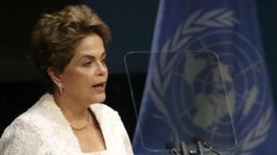 Presidente Dilma Rousseff durante o discurso na ONU, em Nova Iorque, nesta sexta-feira.