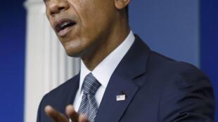 Barack Obama no pronunciamento na Casa Branca nesta sexta-feira.