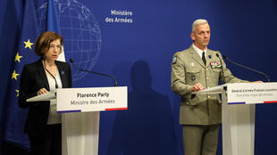 French Defence Minister, Florence Parly (left) and army chief, François Lecointre, said French hostages could have been given to militant groups.