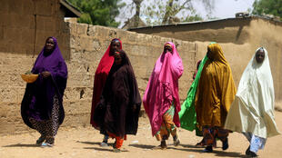 Women in Dapchi, where the latest kidnapping took place