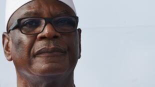 Ibrahim Boubacar Keita, ici le 10 mai 2018, est officiellement candidat à un nouveau mandat de cinq ans à la tête du Mali.