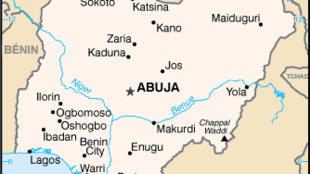 Carte administrative du Nigeria