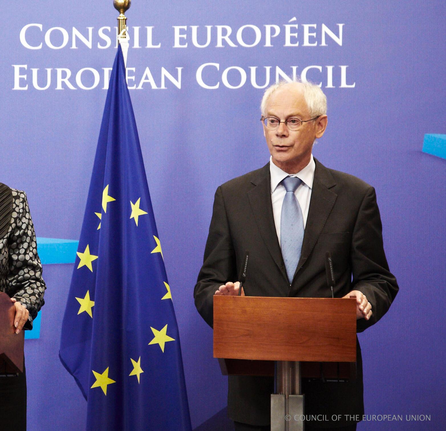 O presidente do Conselho Europeu, Herman van Rompuy