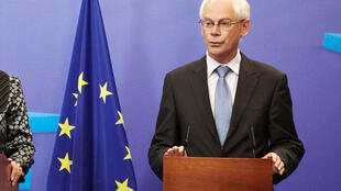 O presidente do Conselho Europeu, Herman van Rompuy
