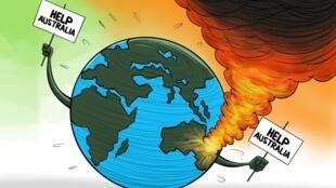 法廣存檔圖片:澳大利亞森林大火需要國際援助 Image d'archive: Incendie de la forêt: Australie a besoin d'une assistance internationale pour sauver des vies et l'environnement (16/01/2020)