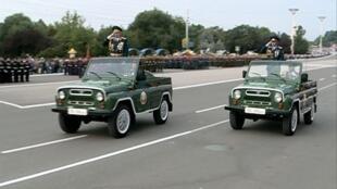 Военный парад по случаю 23 годовщины независимости Приднестровской Молдавской Республики
