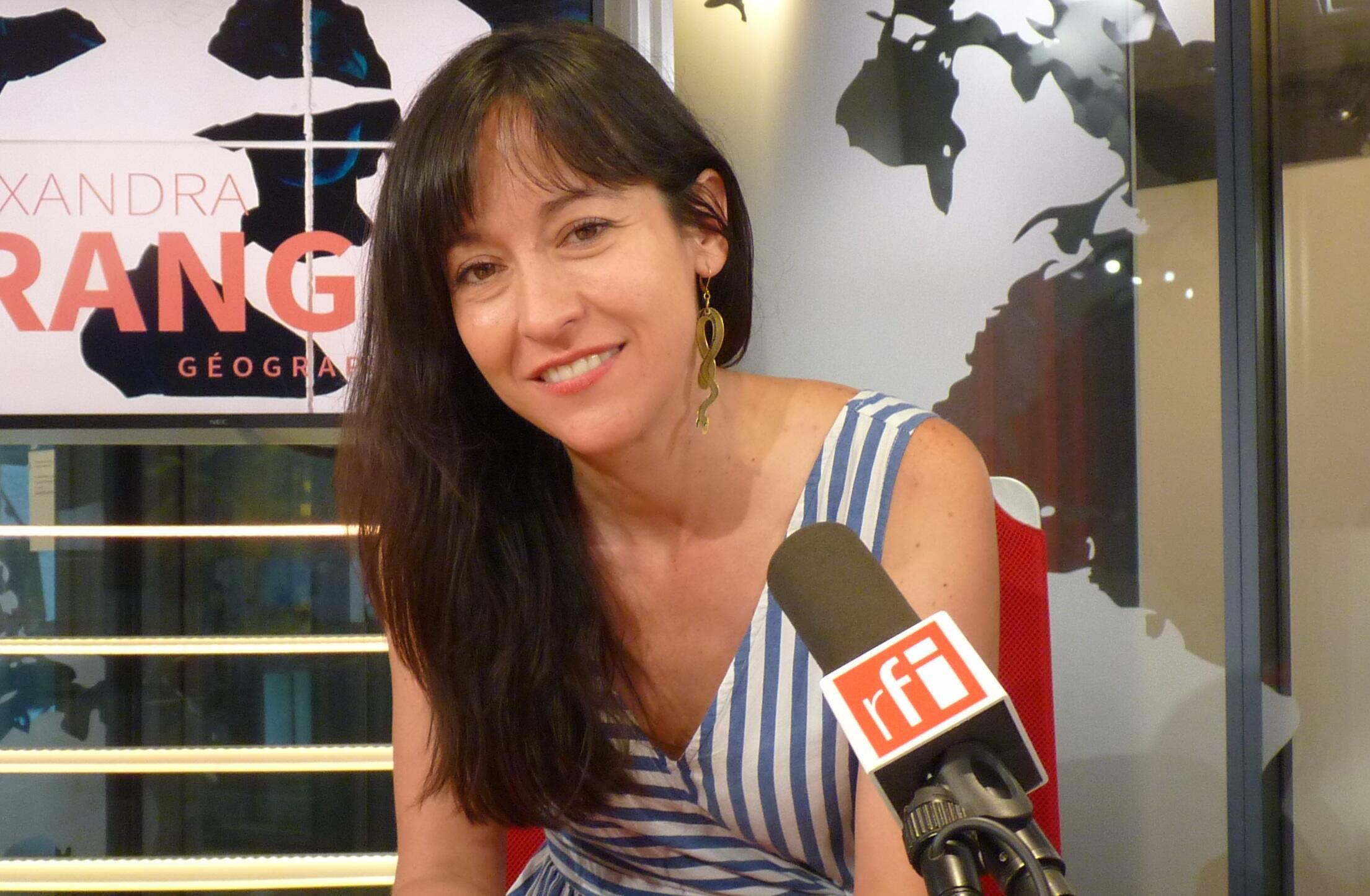 Alexandra Arango en los estudios de RFI