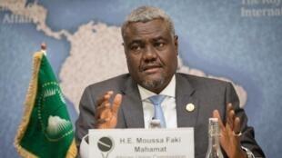 Moussa Faki Mahamat, président de l'Union africaine.