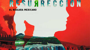 """Cartel del documental """"Resurrección"""" del mexicano Eugenio Polgovsky sobre el río Santiago."""