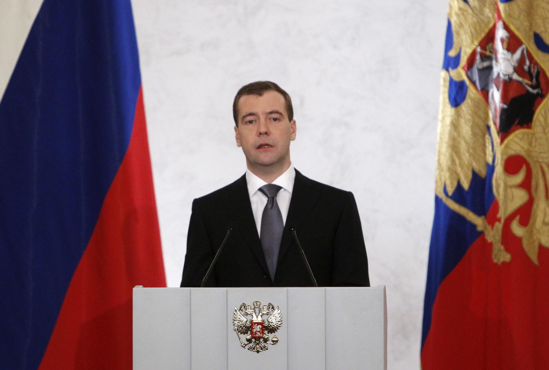 លោកប្រធានាធិបតី រុស្ស៊ី  Dmitri Medvedev