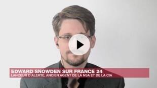 居住在俄羅斯的斯諾登接受France24專訪