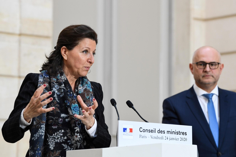 Bộ trưởng Y Tế Pháp Agnès Buzyn trong buổi họp báo tối 24/01/2020 xác nhận ba trường hợp nhiễm virus corona tại Pháp.