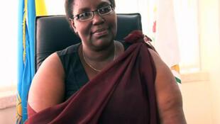 La ministre rwandaise chargée des Réfugiés et de la Gestion des catastrophes, Séraphine Mukantabana.