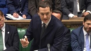 Le ministre des Finances britannique George Osborne, le 3 décembre 2014, au Parlement de Londres.