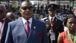 Le président congolais Denis Sassou-Nguesso, photographié en mai 2015.