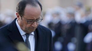 法國總統奧朗德11月29日在巴黎榮軍院
