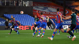 Burnley captain Mee heads in the only goal of a 1-0 victory away to Crystal Palace