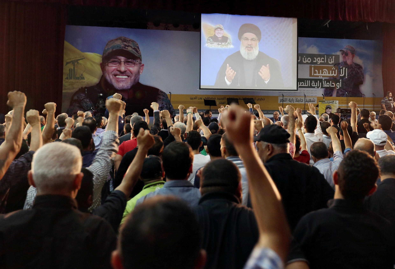 """سخنرانی حسن نصرالله در مراسم چهلمین روز کشته شدن """"مصطفی بدرالدین"""" از فرماندهان ارشد حزبالله. جمعه ٤ تیر/ ٢٤ ژوئن ٢٠۱۶"""