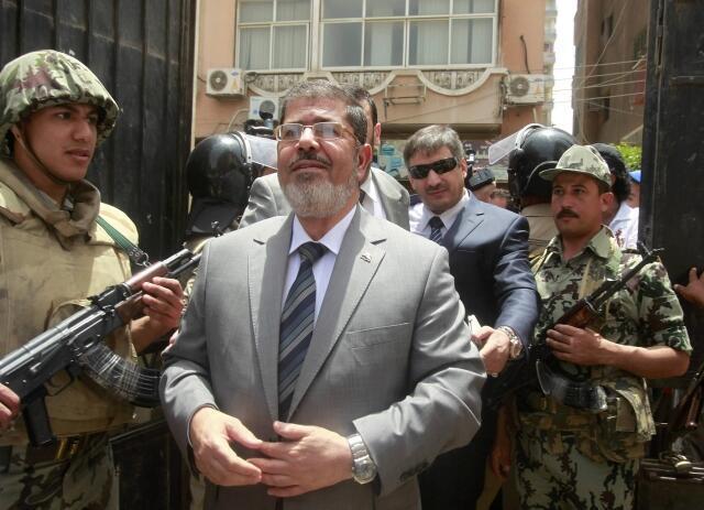 Ông Mohamed Morsi đi bỏ phiếu trong cuộc bầu cử tổng thống Ai Cập ngày 23/5/2012