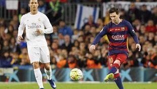 Barcelona's Lionel Messi (right) and Cristiano Ronaldo of Real Madrid will both feature in the Champions League last eight.