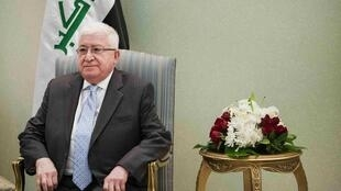 Iraqi President Fuad Masum before meeting US Secretary of State John Kerry on Wednesday