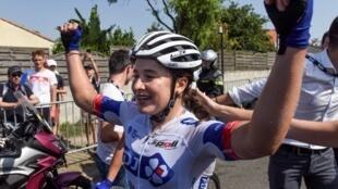 Jade Wiel, championne de France de cyclisme sur route en 2019.