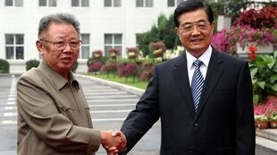 Kim Jong-Il and Chinese President Hu Jintao