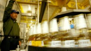 Production de bière Corona à Mexico City.