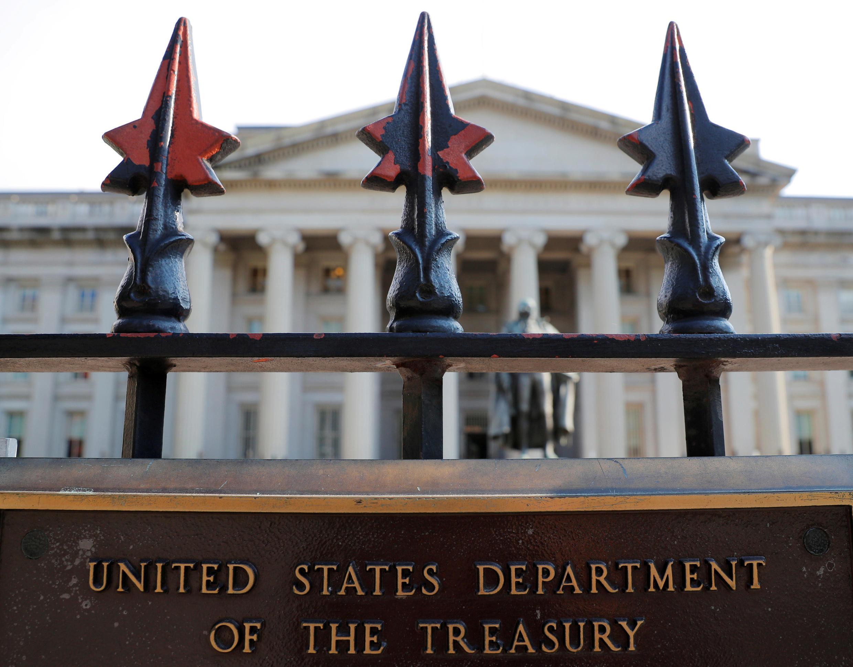 Bộ Tài Chính Hoa Kỳ ở Washington, ngày 06/08/2018.