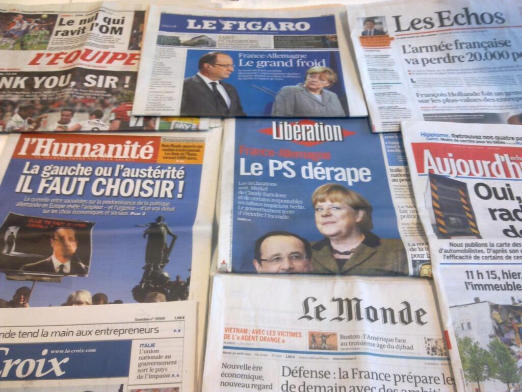 Diários franceses  29/04/2013