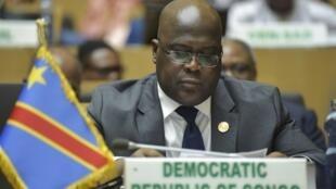 Rais wa Jamhuri ya kidemokrasia ya Congo Félix Tshisekedi wakati wa mkutano wa Umoja wa Afika, february 10 2019.