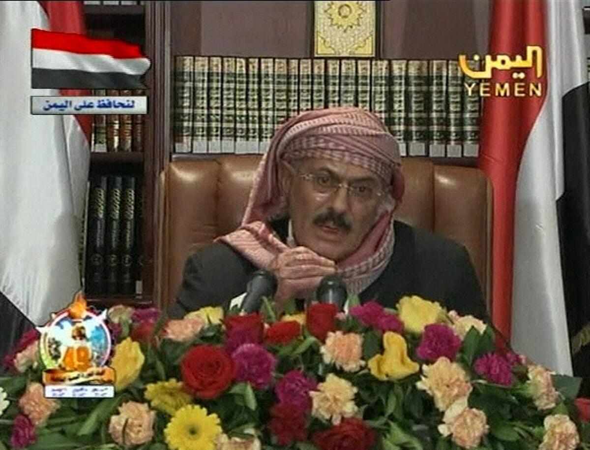 Yemen's President Ali Abdallah Saleh on 25 September 2011