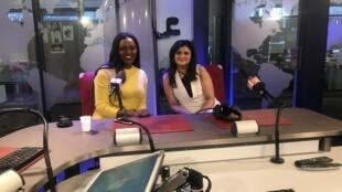 Mariana Bakana da Bakana Events e a estilista Hameeda Choraniya na RFI a 22 de Janeiro de 2019.