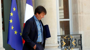 Ông Nicolas Hulot, bộ trưởng bộ Chuyển Đổi Sinh Thái (Môi Trường) của Pháp, sau cuộc họp tại điện Élysée, Paris, ngày 27/06/2018.