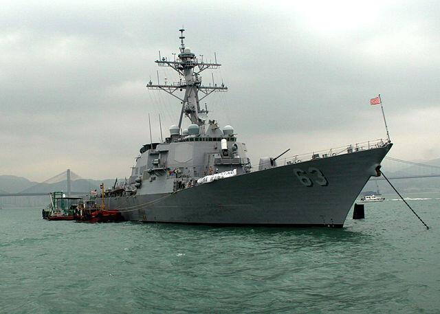 Chiến hạm USS Stethem của Hoa Kỳ.