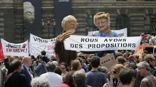 A demonstration in front of the culture ministry in Paris this month