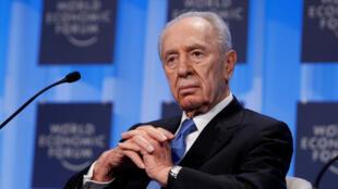 Cố tổng thống Israel Shimon Peres tại Diễn Đàn Kinh Tế Thế Giới (WEF) ở Davos, ngày 28/01/2010.