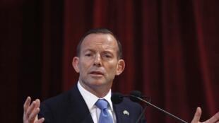 Tony Abbott, premier ministre australien, à Bombay, le 4 septembre 2014.