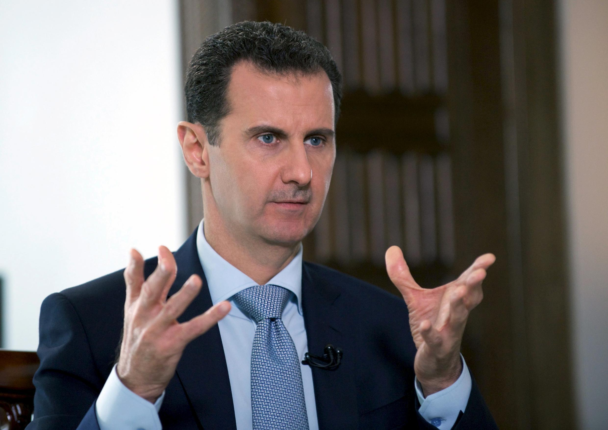 Syria's President Bashar al-Assad speaks during an interview with Russia's RIA news agency, in Damascus, Syria in this handout picture provided by SANA on March 30, 2016.