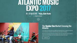 Cartaz da quinta edição do Atlantic Music Expo, Cabo Verde,