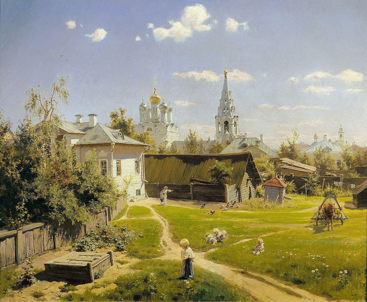 «Московский дворик» Василия Поленова