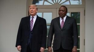 Shugaban Amurka  Donald da takwaransa na Kenya Uhuru Kenyatta, a birnin Washington.