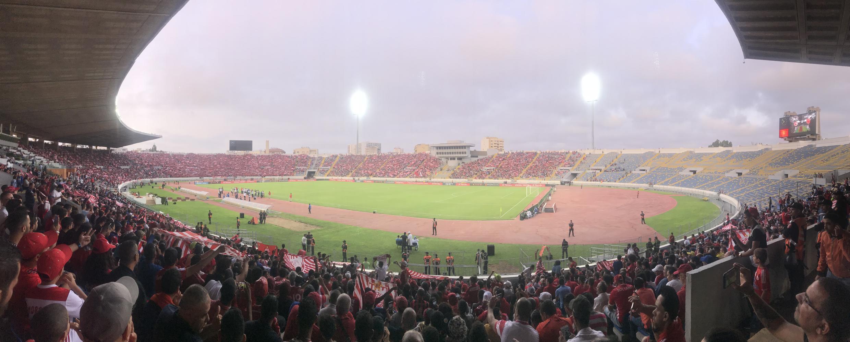 Le Stade Mohamed V de Casablanca, en 2018, futur théâtre de la finale de la Ligue des champions CAF 2021.