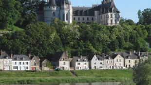 Une vue générale du château de Chaumont-sur-Loire.