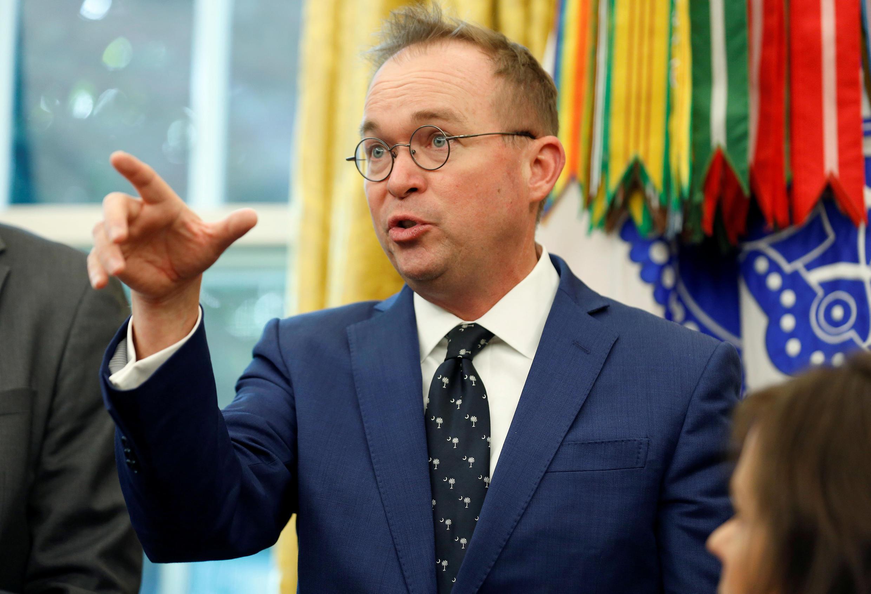 Mick Mulvaney, le directeur du budget à la Maison Blanche, ici le 17 octobre 2018, a été nommé ce vendredi chef de cabinet par intérim.