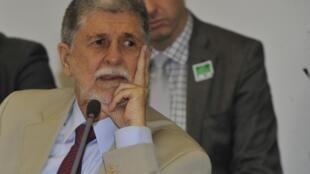 O ministro da Defesa, Celso Amorim