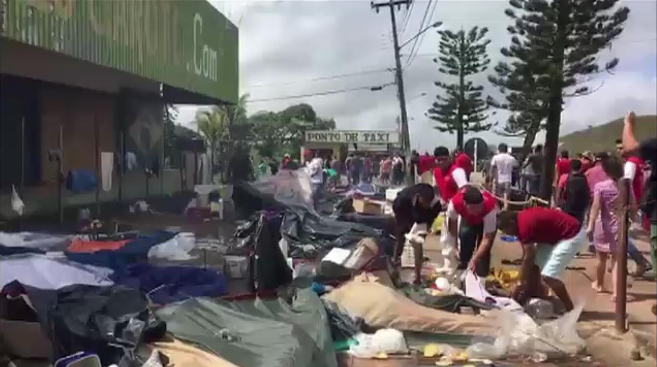 Destrucción de campamentos y bienes de los venezolanos en Pacaraima