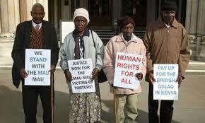 The plaintiff Wambuga Wa Nyingi, Jane Muthoni Mara, Paulo Muoka Nzili, London, April 2011