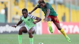 Lors de la demi-finale de CAN 2018 entre le Nigeria et le Cameroun.